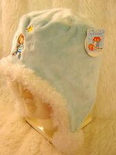 Girls Little Wingels Pale Blue soft fleece cosy velour Warm Ear Trapper Hat 5-10