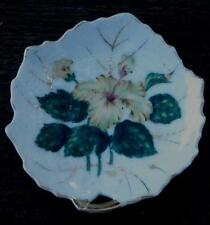 Vintage Viceroy China Hand Painted Leaf Shaped Butter Pat Plate, Floral  VGC