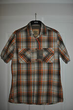 "MARKS & SPENCER  ""NORTH COAST RANGE"" ORANGE CHECK  SIZE MED( NEW WITH TAGS)}"