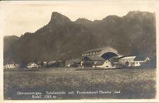 Oberammergau Totalansicht mit  Passionsspiel-Theater und Kofel