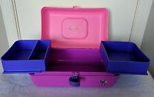 Kidz Caboodles Make Up Jewelry Accessories Case Pink Purple Swing Shelves