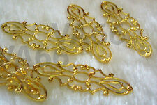 DIY Gold Filigree Lace Extension Chandelier Earrings Parts Spacers Findings