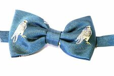 Hawk Eagle Falconry Bow Tie 100% Silk Green  Back ground  Gift