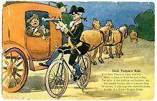 Advertising -DICK TURPIN'S RIDGE-CORBIN COASTER BICYCLE BRAKE- Postcard