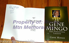 """""""21"""" GENE MINGO - The Forgotten Legend - Signed and Inscribed """"2014 ROF"""""""