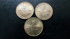 LOT OF 3 COINS-5 RUPEES COMMEMORATIVE-150 BIRTH ANNIVERSARY SWAMI VIVEKANANDA