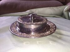 Lovely Victorian Reed And Barton Silver Plate Butter Dish 19cm D