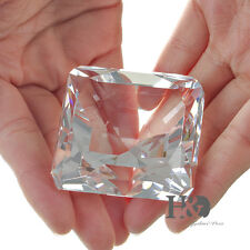 Square Crystal Glass Diamond Paperweight Christmas Ornaments Award Gift with Box