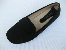 Pierre Dumas Womens Shoes NEW $45 Driving Black Perf Loafer Driver 6.5 M
