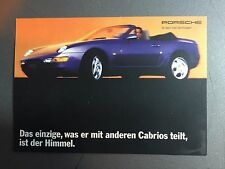 1993 / 1994 Porsche 968 Cabriolet Factory Issued Postcard Post Card RARE Awesome