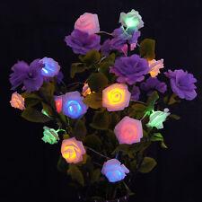 2M 20 LED multicolor Flor Rosa De Pilas Guirnalda De Luces Halloween Decoración