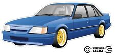 HOLDEN VK SS GROUP A BLUE Sticker with Simmons