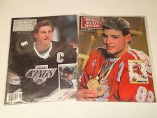 BECKETT Hockey Magazine Issue #1 (1990) & #8 (1991)  Wayne Gretzky