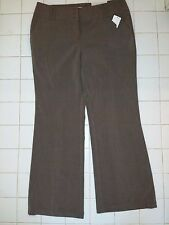 NEW Womens CATO Brown Lower Rise Stretch Dress Pants Trousers Size 12P NWT