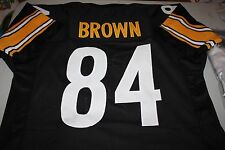 PITTSBURGH STEELERS #84 ANTONIO BROWN CUSTOM JERSEY PRO BOWL WR SIZE LARGE