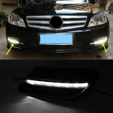 2x LED Daytime Running lights For Benz W204 C300 Sport AMG 08-11 DRL Fog Lamps