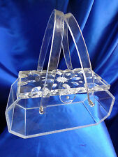 VINTAGE WILARDY CLEAR LUCITE WITH THE THICK CLEAR DOUBLE CARVED ETCHED LID!!