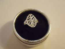 BAGUE ANELLO Plaqué ARGENT 925 SILVER HOLLOW RING T. 58/8 /new