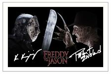 ROBERT ENGLUND KEN KIRZINGER FREDDY VS JASON AUTOGRAPH SIGNED PHOTO PRINT POSTER