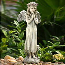 20 inch Praying Angel Flower Garden Statue Yard Art Memorial Figure Flower Crown