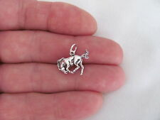 Sterling Silver 3d bucking bronco horse charm