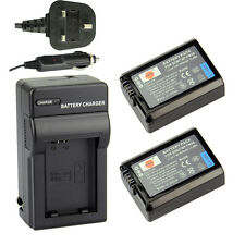 DSTE 2x NP-FW50 Battery + UK Charger Kit for Sony NEX-5 NEX-6 NEX-7 RX10 II