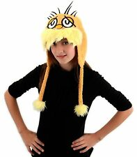 Dr Seuss Lorax Hoodie Hat Costume Adult Kids Child Laplander Yellow Cat in Hat