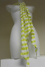 Abercrombie & Fitch cotton yellow/white stripe scarf  RRP 49.00 OUR PRICE £9.99