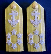 NEW US NAVY HARD SHOULDER BOARDS ADMIRAL 6 STARS UNIQUE NON ISSUED PAIR CP MADE