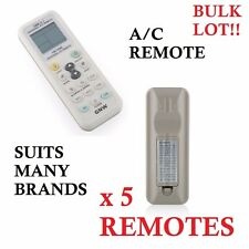 5 x Universal AIRCON REMOTE CONTROL A/C AIR CONDITIONER 1000 in 1 - SUITS MOST