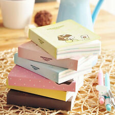 Cute Diary Notebook Simple Notepad Mini Cartoon Exercise Book Stationery New L30