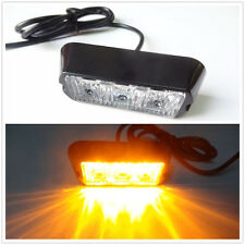 3LED Work Vehicle Flashing Strobe Emergency Warning Side net light Amber 12V