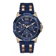 Guess Watches W0366G4 Gent's Oasis Watch Rose/Blue Two Tone Day Date