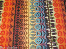 NAVAJO NATIVE EARTH SOUTHWEST BLANKET PATTERN - COTTON FABRIC Priced By The Yard