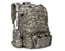 55L Molle Outdoor Military Tactical Bag Camping Hiking Trekking Backpack Bug Out