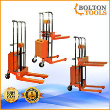 Bolton Tools Pallet Stacker Jack Lift Electric Powered Operated 880 lb ETF40-13