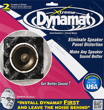 DYNAMAT XTREME 10415 CAR DOOR SPEAKER KIT 2 SHEETS/2PC SOUND DAMPING DEADENER