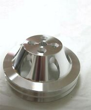 Big Block Chevy SWP Aluminum 2 Double Groove Upper Water Pump Pulley BBC 396 454
