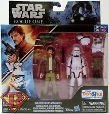 "CAPTAIN CASSIAN ANDOR vs STORMTROOPER Star Wars Rogue One 3 3/4"" Figure TRU 2016"