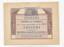 U991-EDDICEMI-SOCIETA' X AZIONI OFFERTA AL PUBBLICO 1950