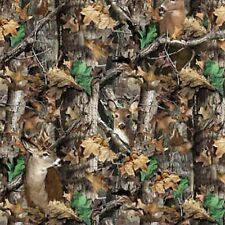 REALTREE DEER IN WOODS CAMO ALL OVER FABRIC MATERIAL, From Print Concepts NEW