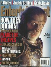 Entertainment Weekly magazine Planet of the Apes Craig David Jackie Collins