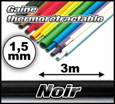 Gaine thermorétractable noir 1,5 mm 3m- gaine thermo