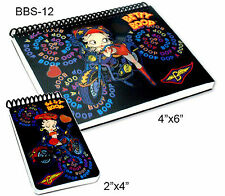 Setof2 Lenticular Betty Boop Motorcycle Black 4x6in2x4in Notebook #BBS-12#