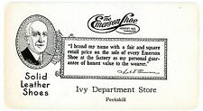 Peekskill NY-EMERSON SHOE ADVERTISEMENT-IVY DEPARTMENT STORE-Ink Blotter AD