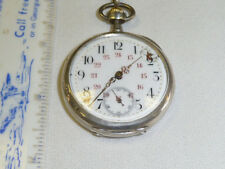 VINTAGE STERLING AVANCE  RETARD POCKET WATCH-WORKS PERFECTLY,ODD FOB