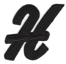 "Letters - Black Script  2"" Letter ""H"" - Iron On Embroidered Applique"