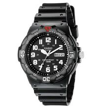 Casio Analog Dive Wrist Watch Mens Chronograph Water Resistant Shock Black S G