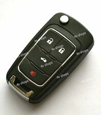 4 Buttons Replacement Remote Key Case Fob Flip Folding Key Shell for Chevrolet