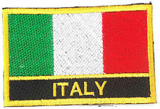 Italy Embroidered Sew or Iron on Patch Badge